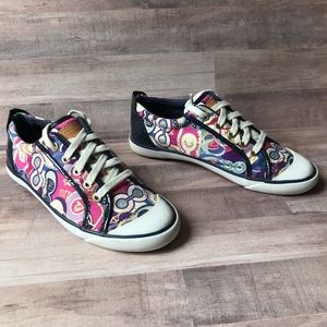 Coach Barrett Graffiti Sneakers Size 7.5B